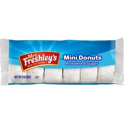 Mrs Freshley's Mini Donuts Powdered