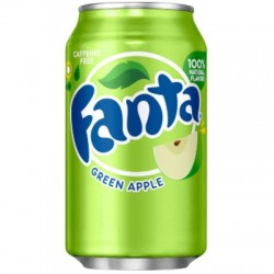 Fanta Green Apple - mela verde 355ml 049000075144