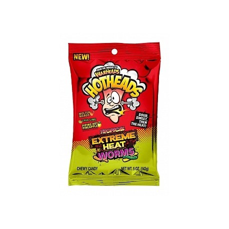 Warheads Hothead Extreme Heat Worms Tropical (141g)