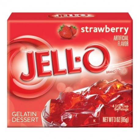 Jell-O Strawberry Gelatin (85g)