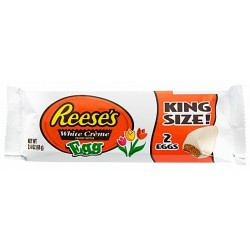 Reese's White Chocolate Peanut Butter King Size Eggs 68g