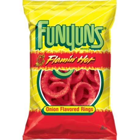 FunYuns Flamin'Hot Onion Flavored Rings 163gr