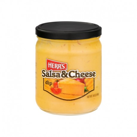 Herr's Salsa and Cheese Dip 454g