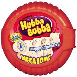 Hubba Bubba Bubble Tape Snappy Strawberry Flavour 56g