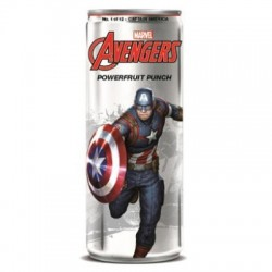 BIBITA AVENGERS POWERFRUIT PUNCH CAPITAN AMERICA 355ml