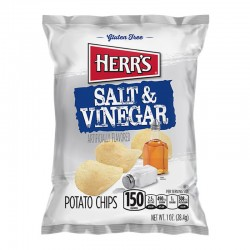 Herr's Salt & Vinegar Potato Chips 28g
