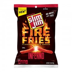 Slim Jims Fire Fries Inferno Potato Snacks 78g