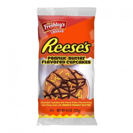 Mrs Freshley's Deluxe Reese's Peanut Butter Cupcakes 128g