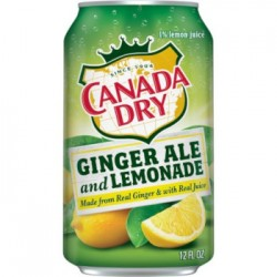 Canada Dry Ginger Ale and Lemonade Cans 355ml