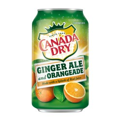 Canada Dry Ginger Ale and Orangeade Cans 355ml