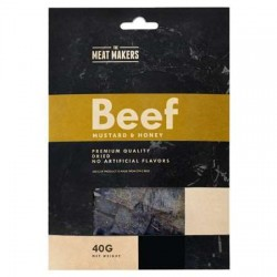 The Meat Makers Beef Jery Mustard & Honey Premium Quality 40g