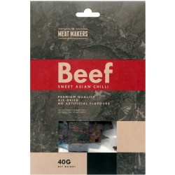 The Meat Makers Beef Jerky Asian Chilli Premium Quality 40g