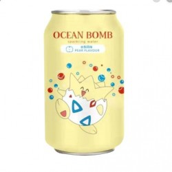 Ocean Bomb Pokemon Togepi Pear Flavour Sparkling Water 355ml