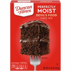DDuncan Hines Perfectly Moist Devil's Food Cake Mix 432g