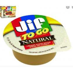 Jif to go Natural Creamy Peanut Butter 43g (singola)
