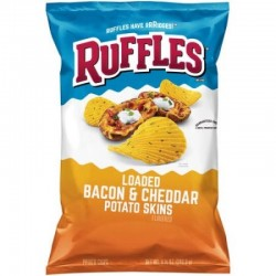 Ruffles Potato Chips Loaded Bacon Cheddar 184g