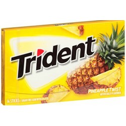 Trident Pineapple Twist Gum 27g
