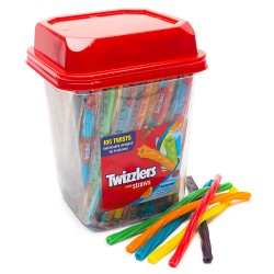 Twizzlers Candy Straws Lampone Singolo 7g