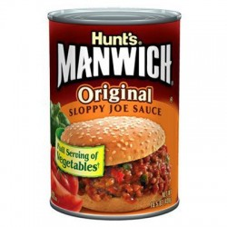 HUNT'S MANWICH SLOPPY JOE SALSA PER HAMBURGER 439g