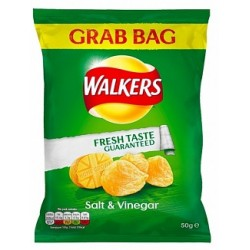 Walkers Salt & Vinegar Crisps 50g
