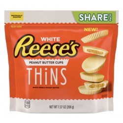 Reese's Peanut Butter Cups Thins White 208g