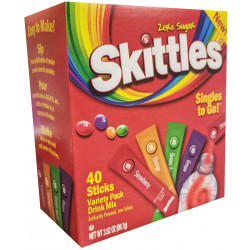 Skittles Singles-To-Go Drink Mix Variety Pack 100g