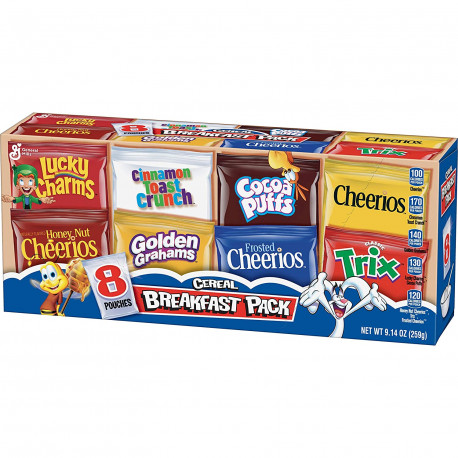 General Mills Assorted Cereal 8-Pack 259g