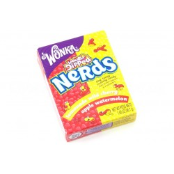 Wonka Nerds Double Dipped Lemonade Wild Cherry &Apple Watermelon Nerds 46.7g