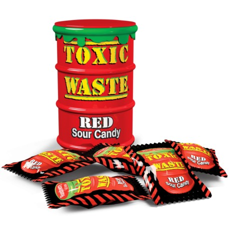 Toxic Waste Red Drum Extreme Sour Candy - Carammelle super aspre
