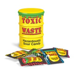 Toxic Waste Yellow Drum Extreme Sour Candy Carammelle super aspre 42g