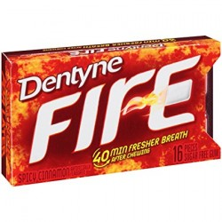Dentyne Fire Cinnamon Chewing Gum (16pcs) 012546315098